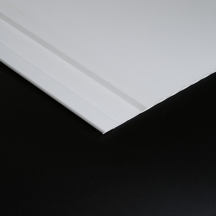 White / Black UPVC Wall Panels For Bathrooms Plastic Wall Cladding